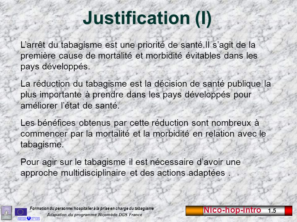 Justification (I)