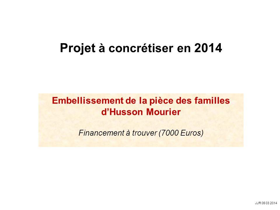 Projet à concrétiser en 2014