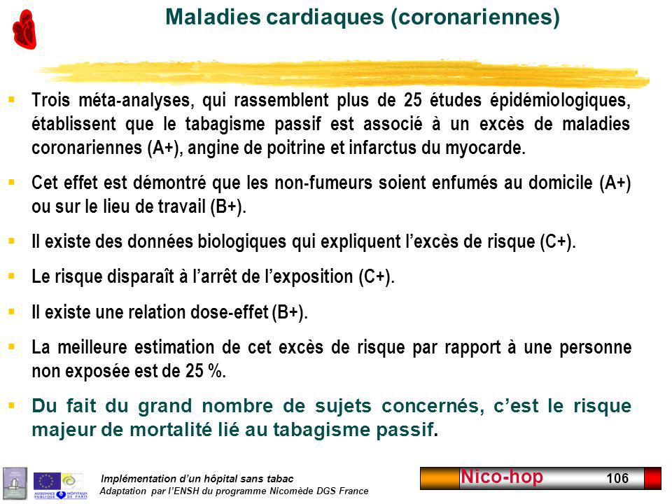 Maladies cardiaques (coronariennes)