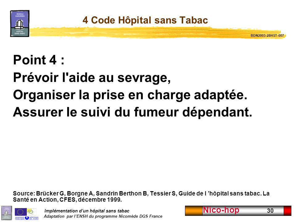 4 Code Hôpital sans Tabac