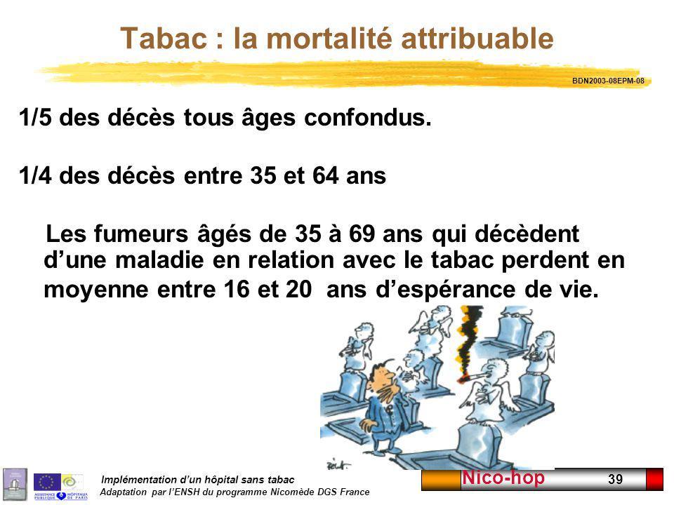 Tabac : la mortalité attribuable