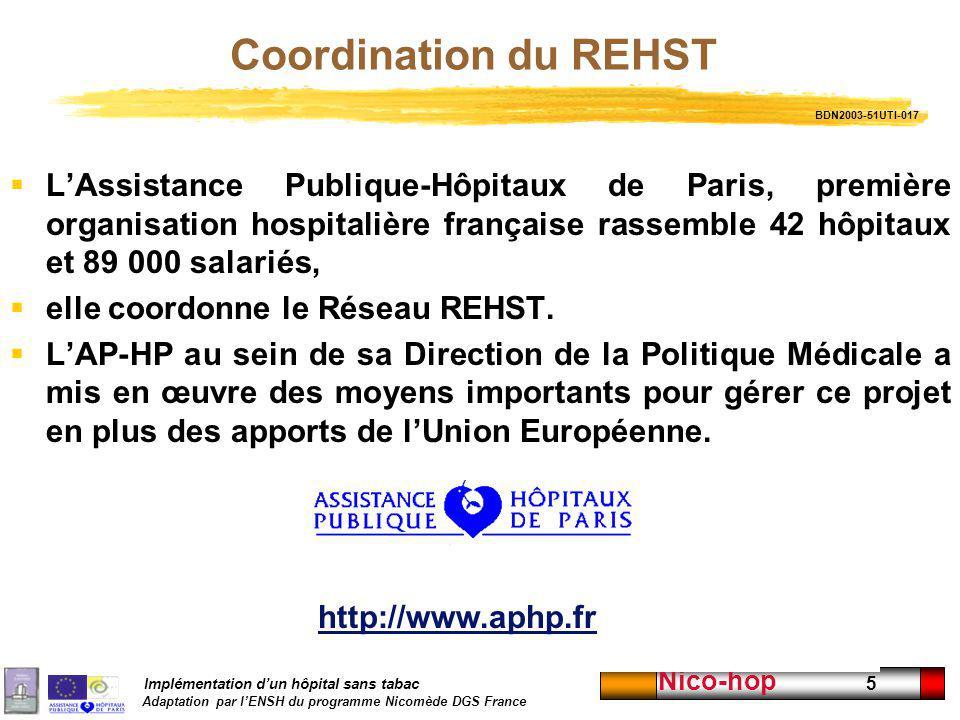 Coordination du REHST BDN2003-51UTI-017.