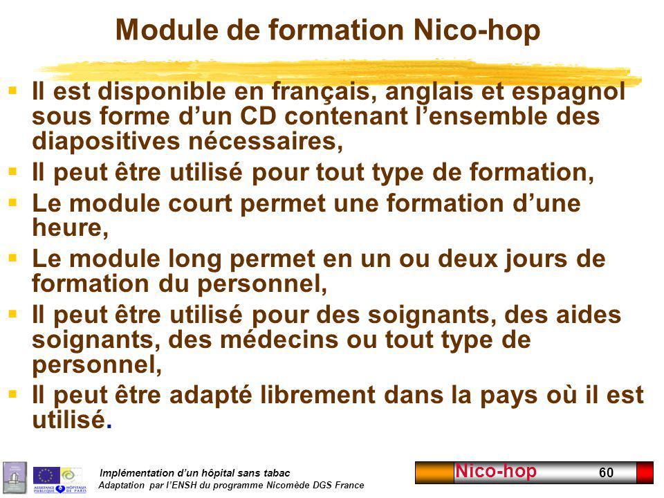 Module de formation Nico-hop