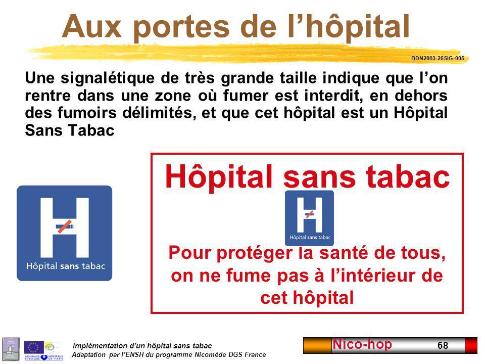 Aux portes de l'hôpital