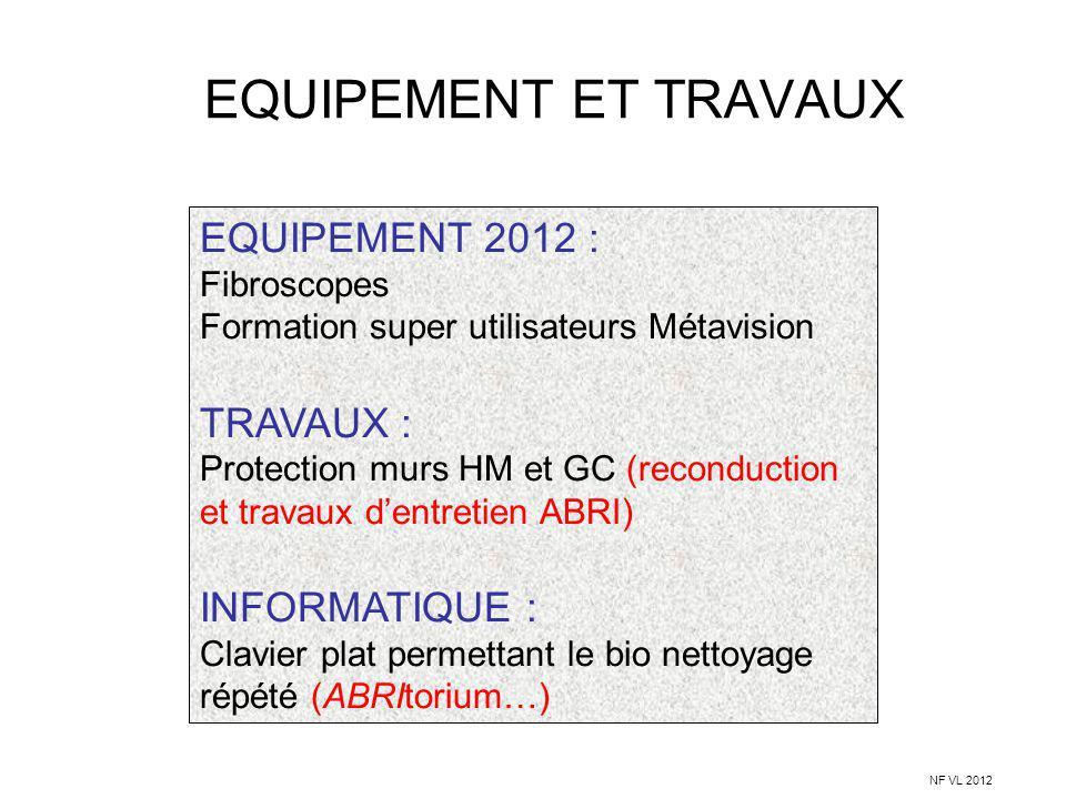EQUIPEMENT ET TRAVAUX EQUIPEMENT 2012 : TRAVAUX : INFORMATIQUE :