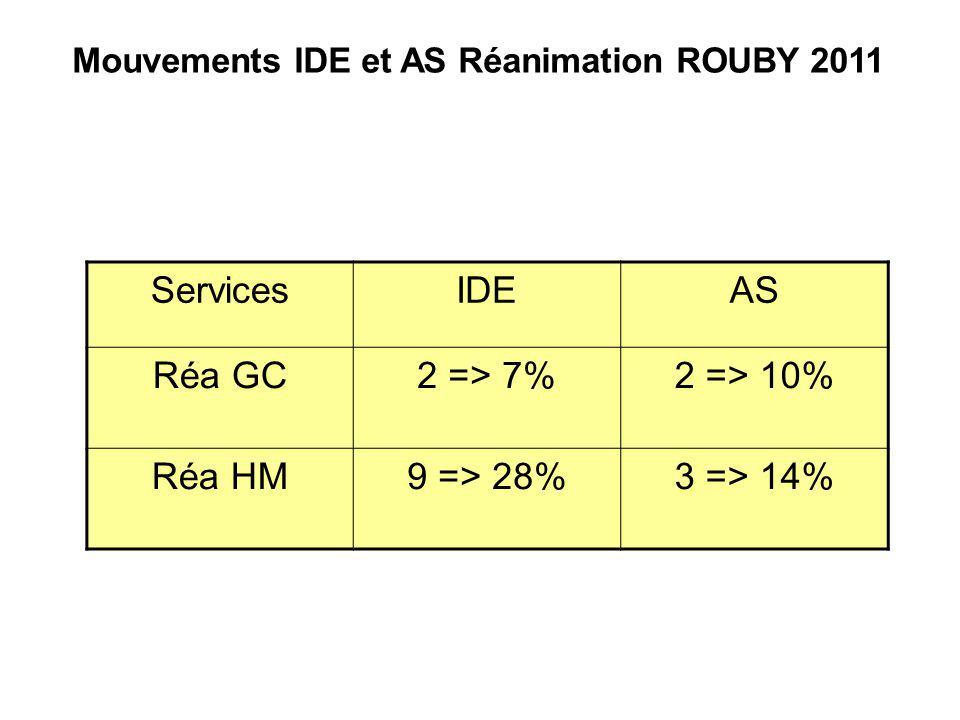Mouvements IDE et AS Réanimation ROUBY 2011