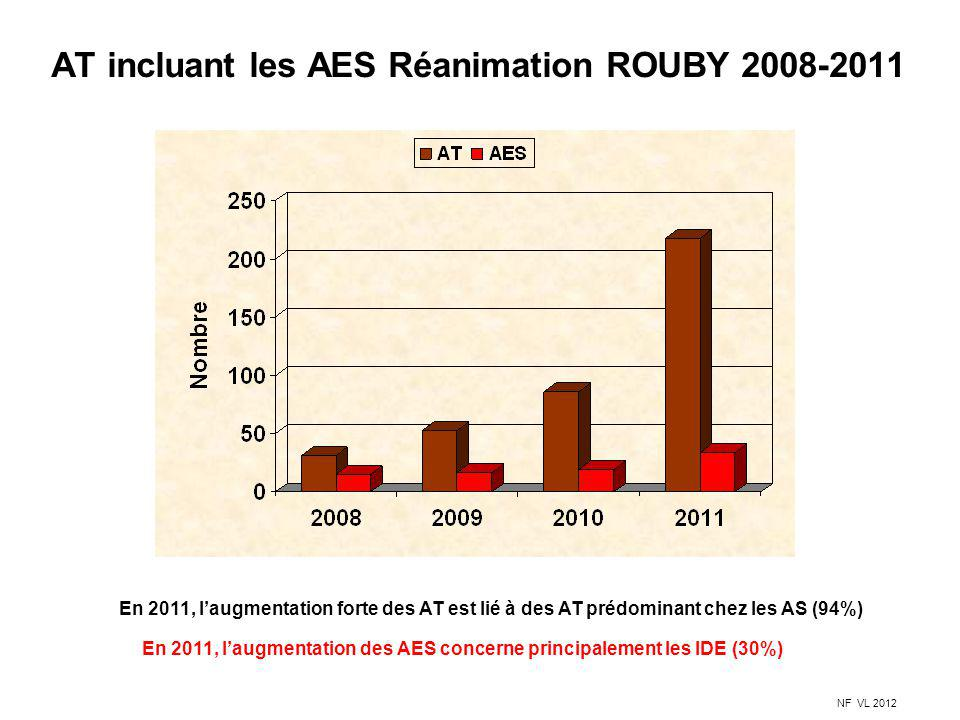 AT incluant les AES Réanimation ROUBY 2008-2011