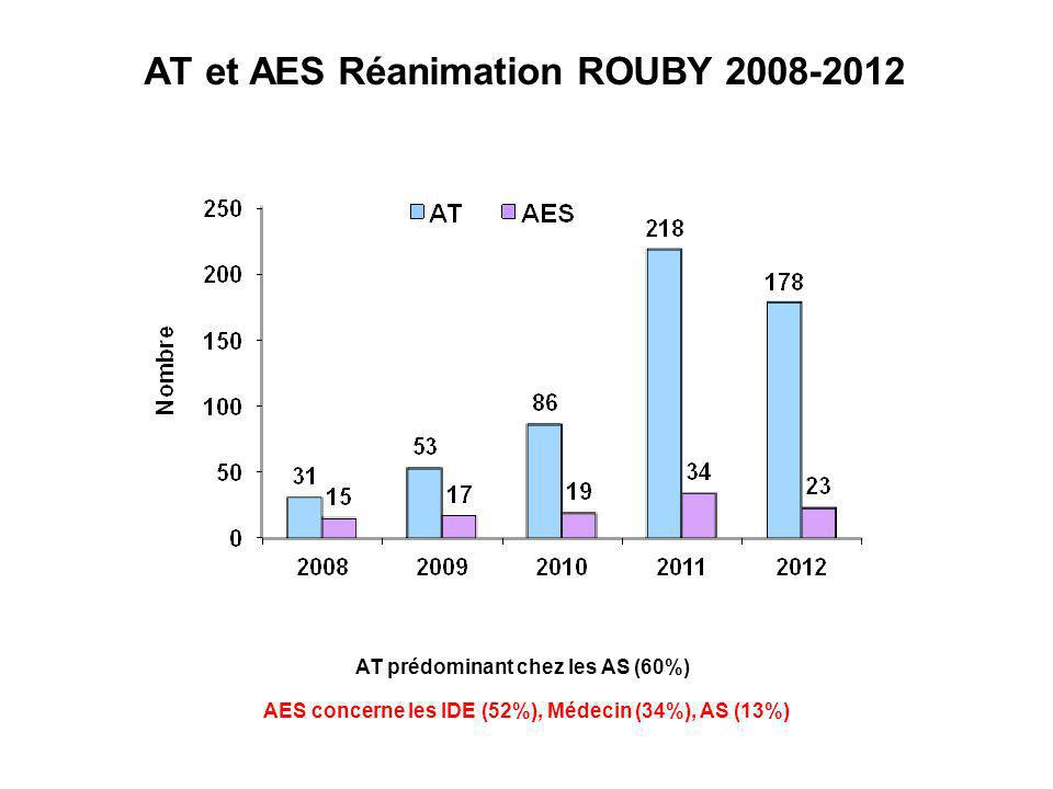 AT et AES Réanimation ROUBY 2008-2012