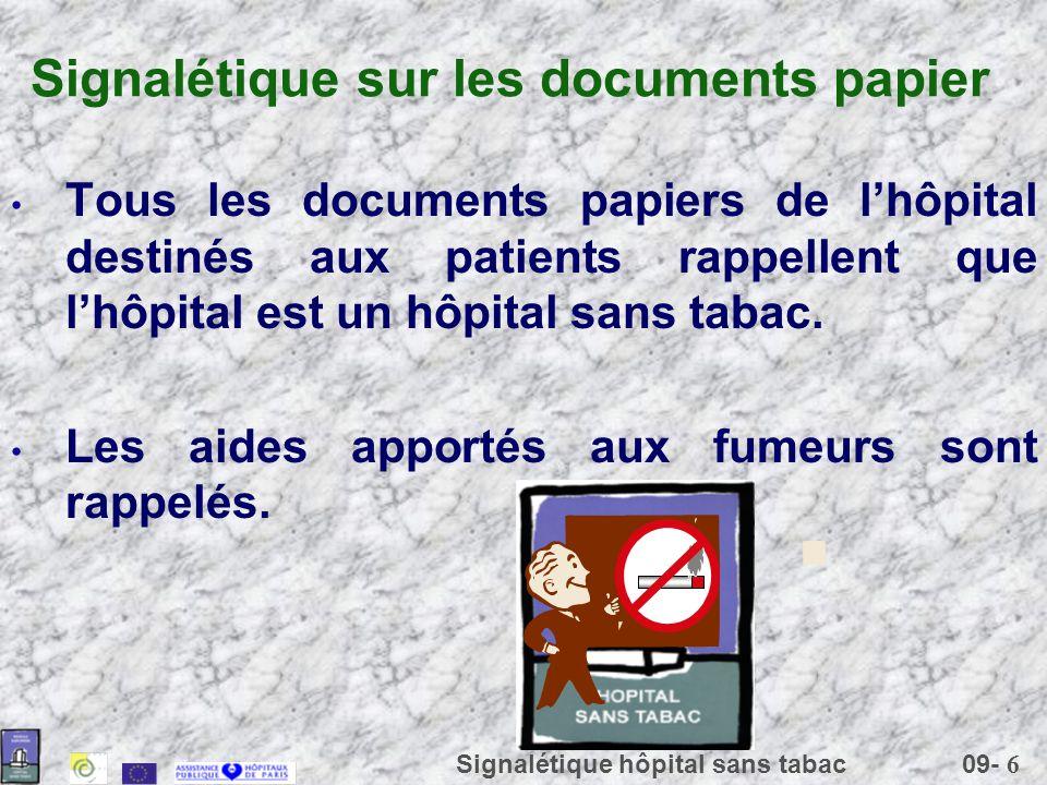 Signalétique sur les documents papier