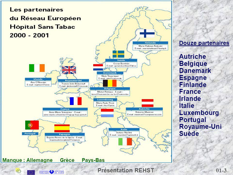 Autriche Belgique Danemark Espagne Finlande France Irlande Italie