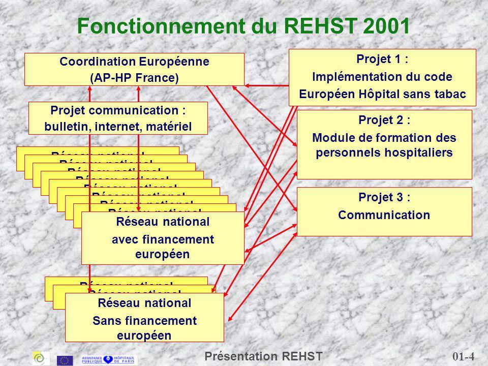 Fonctionnement du REHST 2001