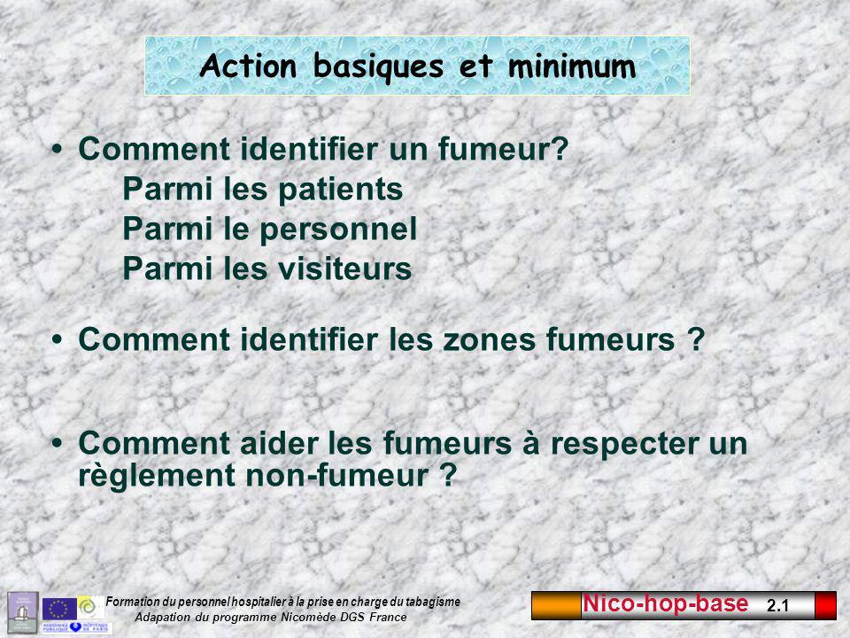 Action basiques et minimum