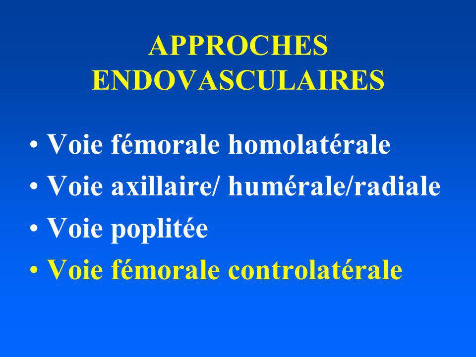 APPROCHES ENDOVASCULAIRES
