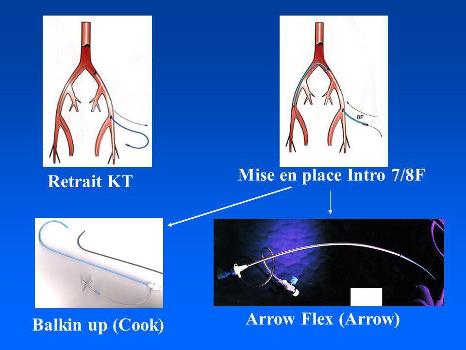 Mise en place Intro 7/8F Retrait KT Arrow Flex (Arrow) Balkin up (Cook)