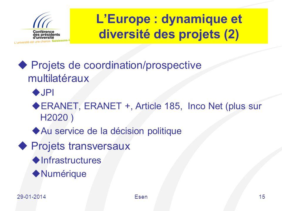 L'Europe : dynamique et diversité des projets (2)