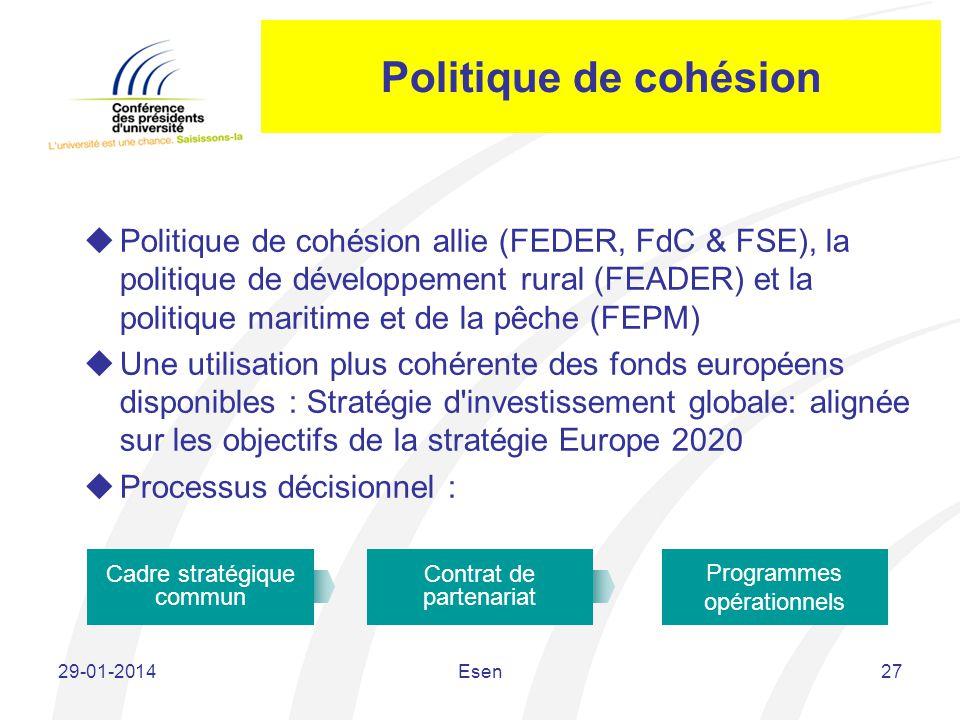Politique de cohésion
