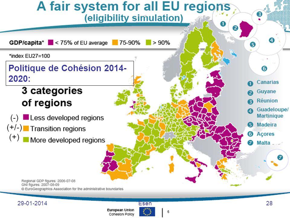 Politique de Cohésion 2014-2020: