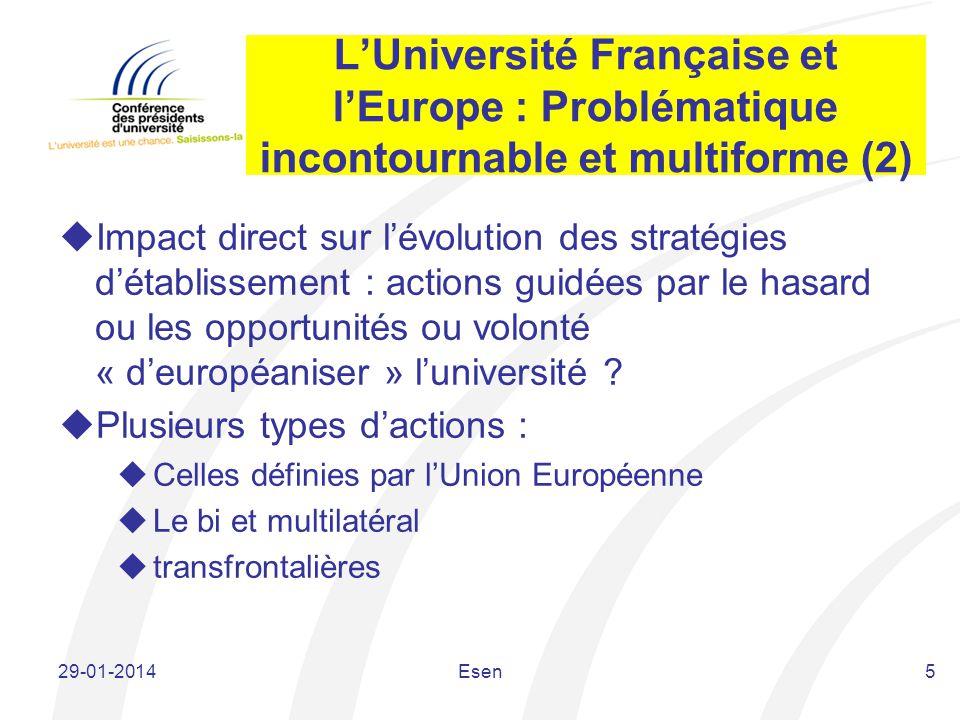 L'Université Française et l'Europe : Problématique incontournable et multiforme (2)