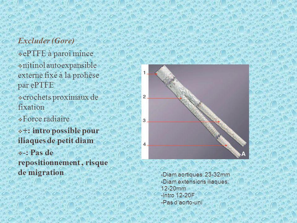 nitinol autoexpansible externe fixé à la prohèse par ePTFE