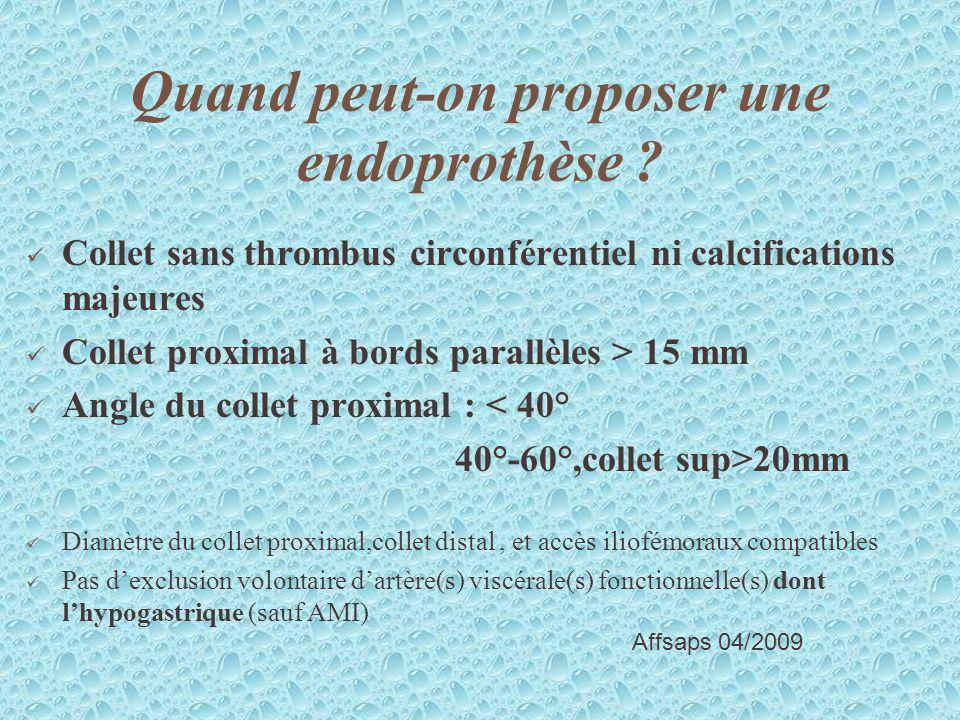 Quand peut-on proposer une endoprothèse
