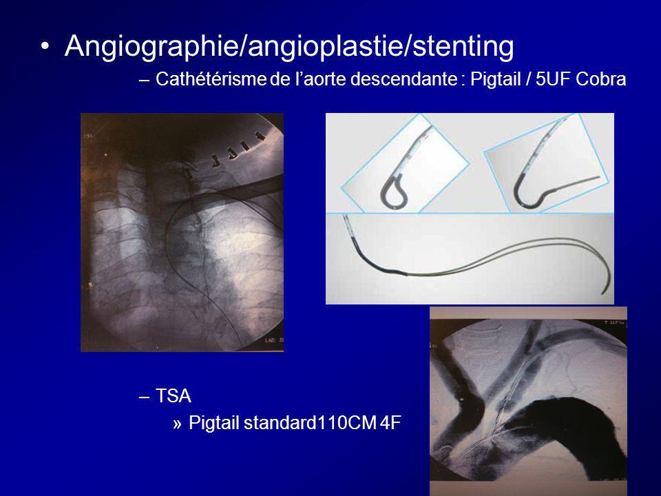 Angiographie/angioplastie/stenting