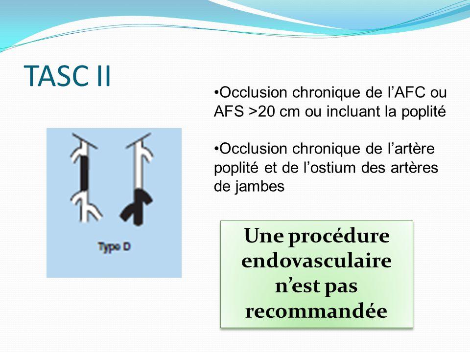 Une procédure endovasculaire n'est pas recommandée