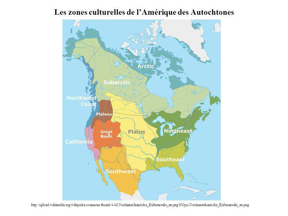 Les zones culturelles de l'Amérique des Autochtones
