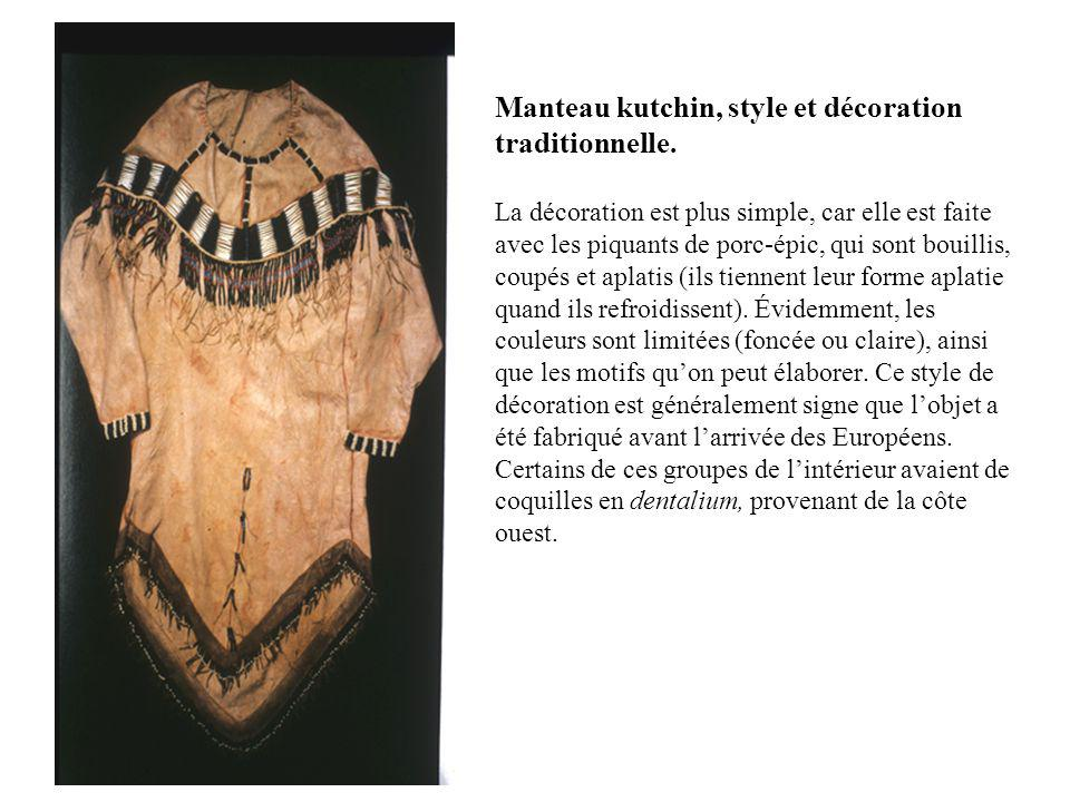 Manteau kutchin, style et décoration traditionnelle