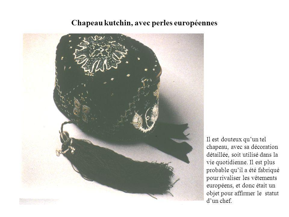 Chapeau kutchin, avec perles européennes