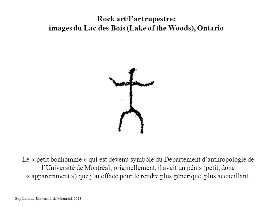 Rock art/l'art rupestre: images du Lac des Bois (Lake of the Woods), Ontario