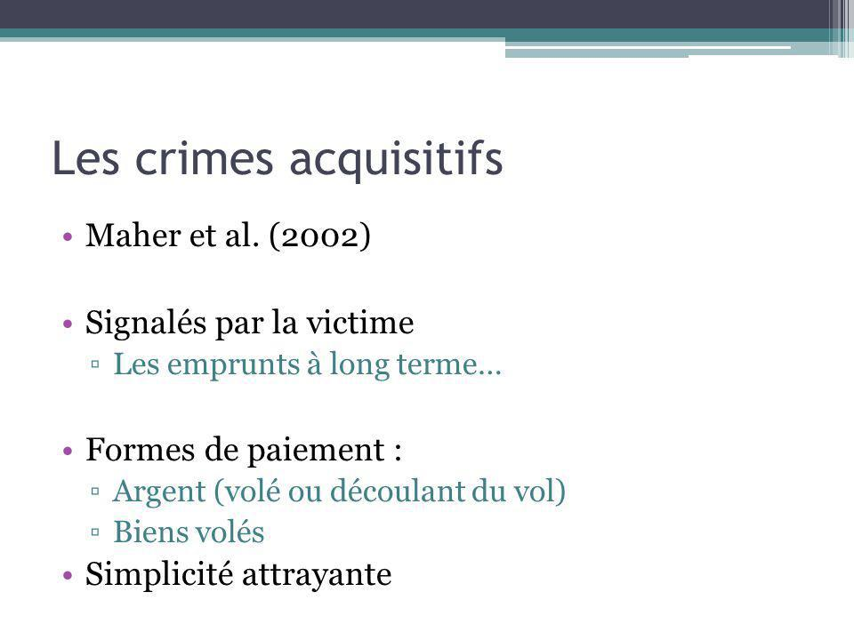Les crimes acquisitifs