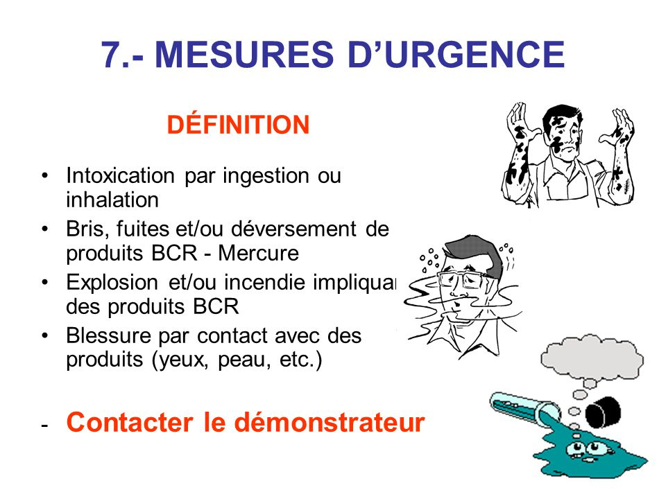 7.- MESURES D'URGENCE DÉFINITION