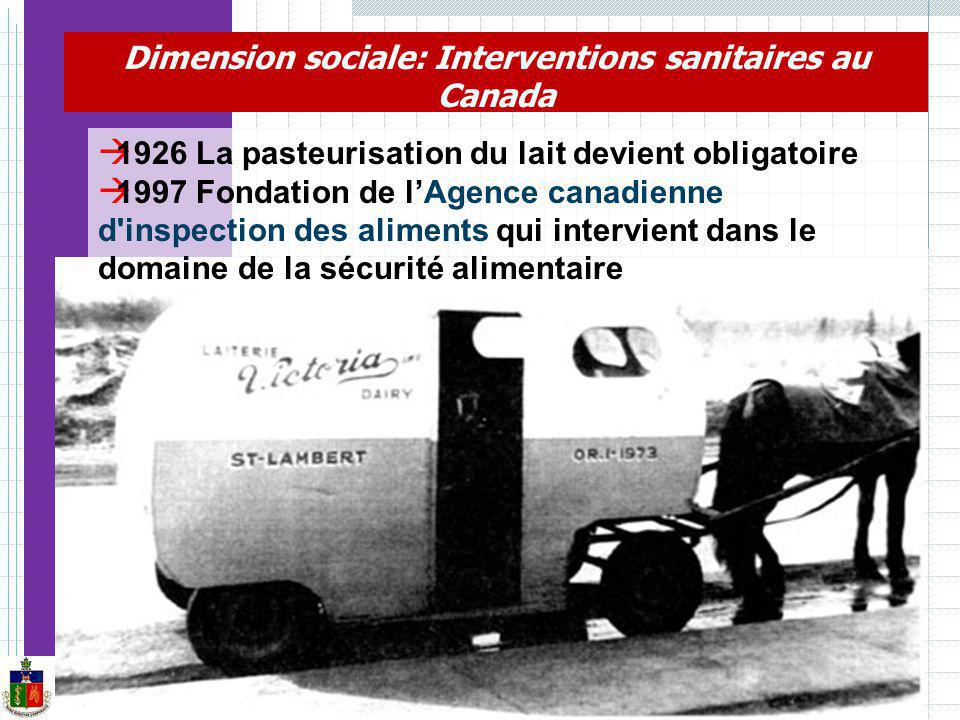 Dimension sociale: Interventions sanitaires au Canada
