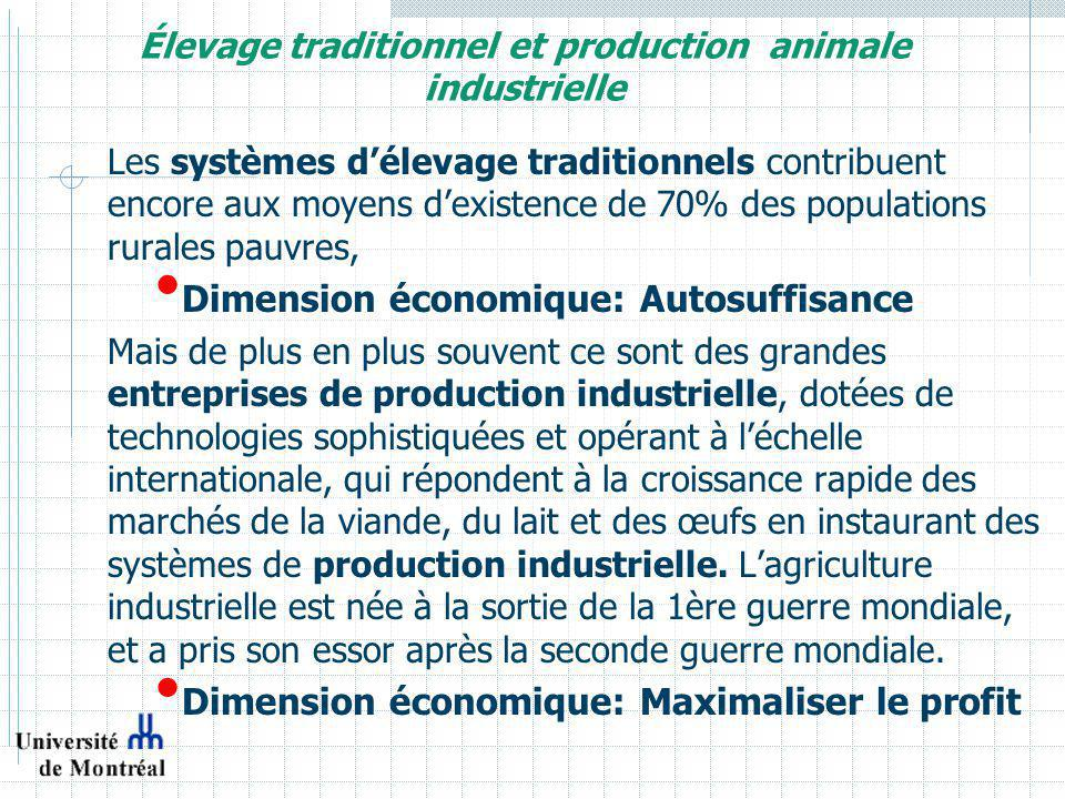 Élevage traditionnel et production animale industrielle