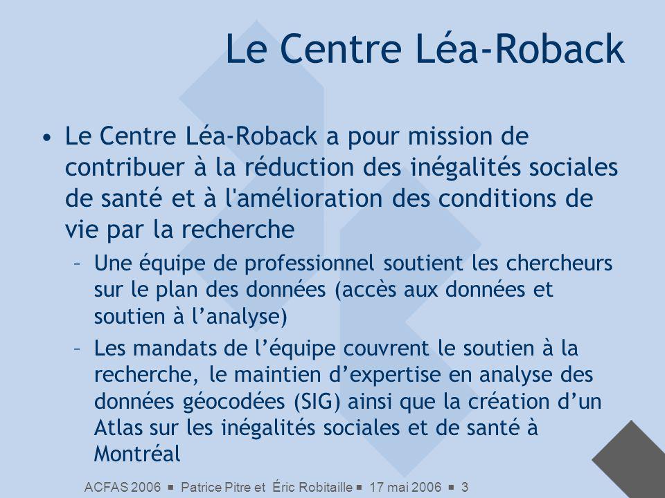 Le Centre Léa-Roback