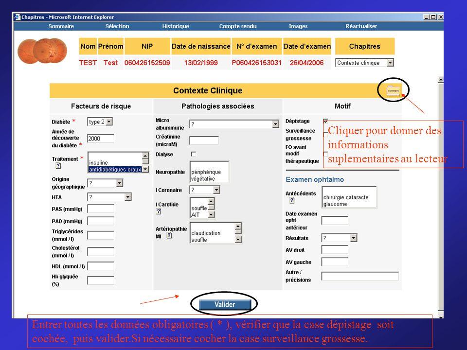Cliquer pour donner des informations suplementaires au lecteur