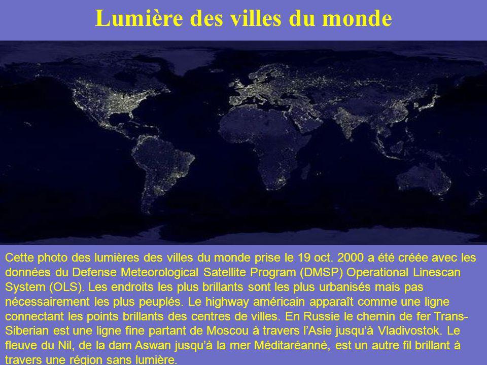 Lumière des villes du monde