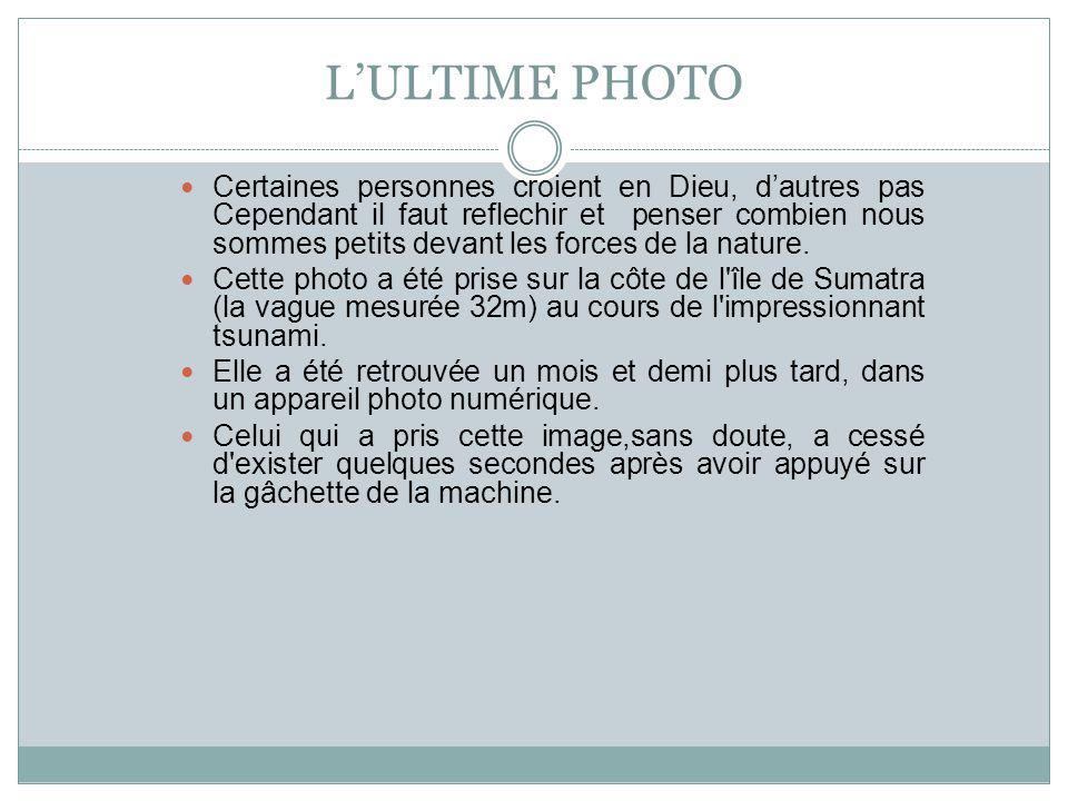 L'ULTIME PHOTO