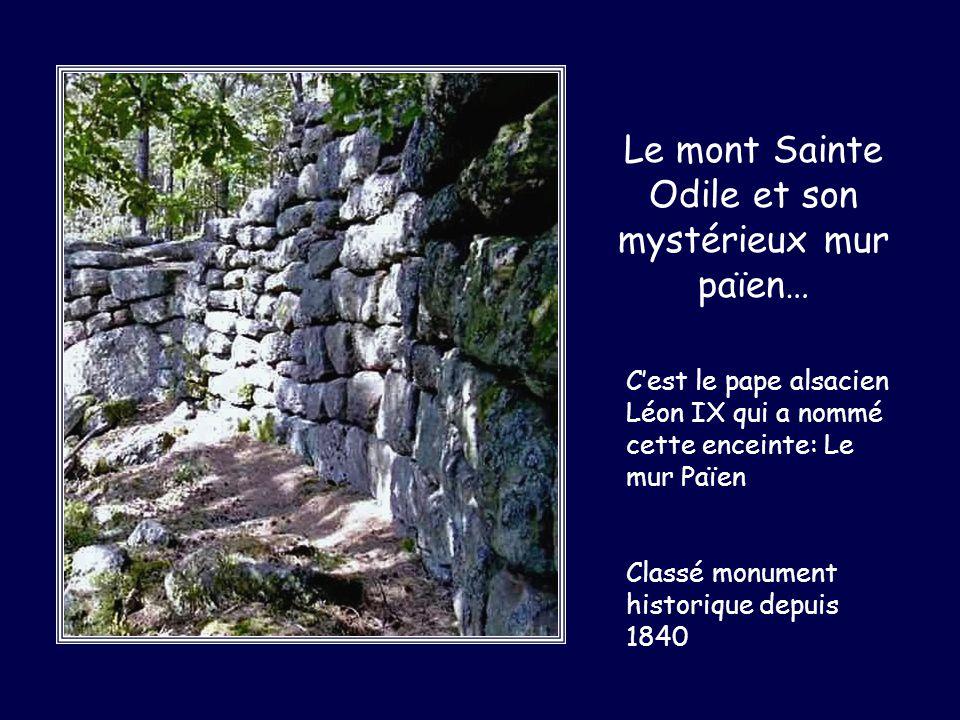 Le mont Sainte Odile et son mystérieux mur païen…