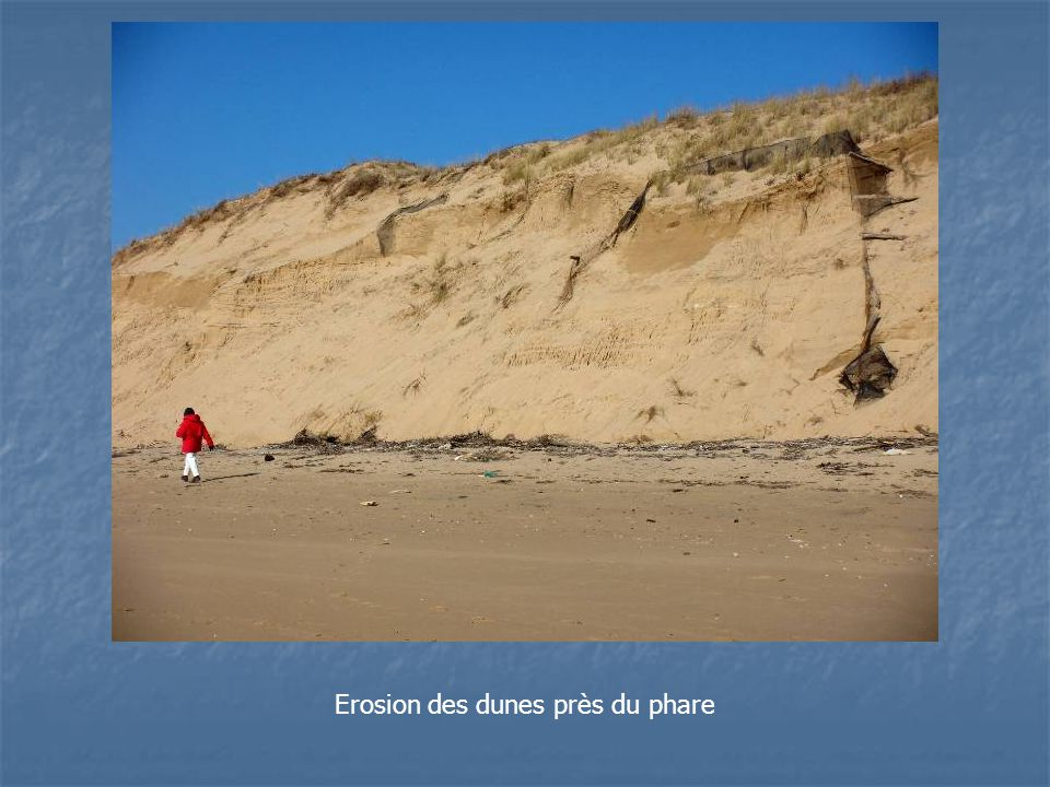 Erosion des dunes près du phare