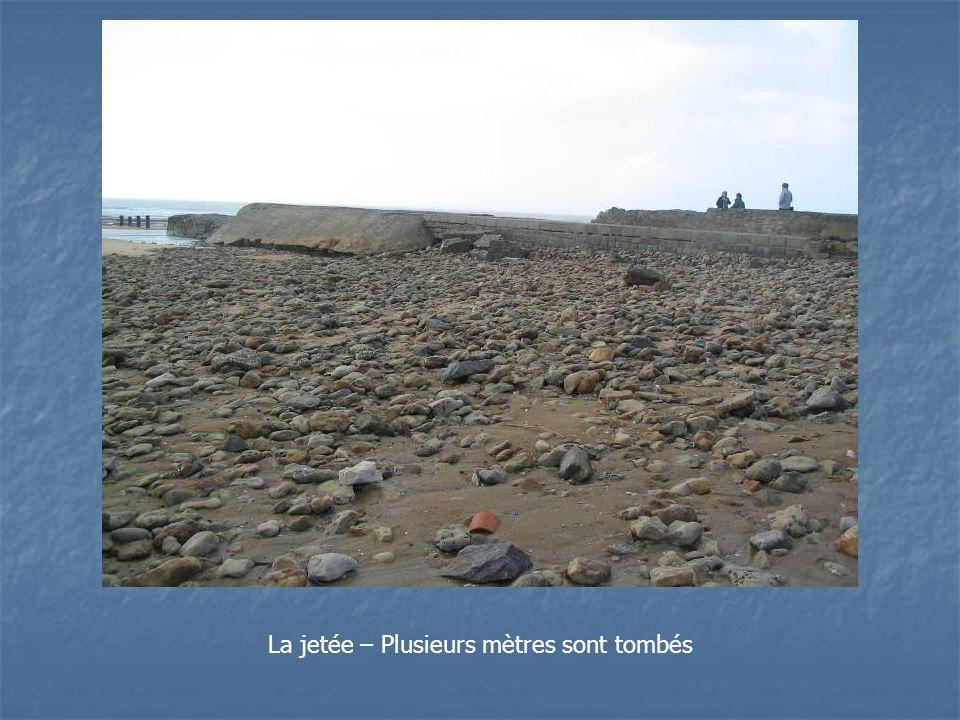 La jetée – Plusieurs mètres sont tombés