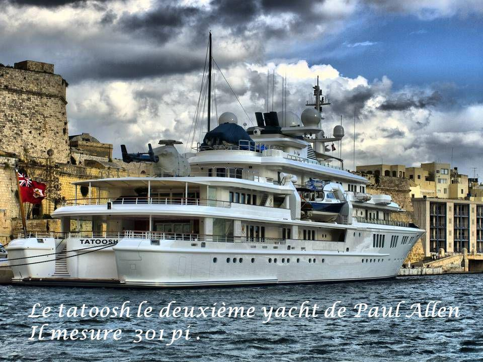 Le tatoosh le deuxième yacht de Paul Allen