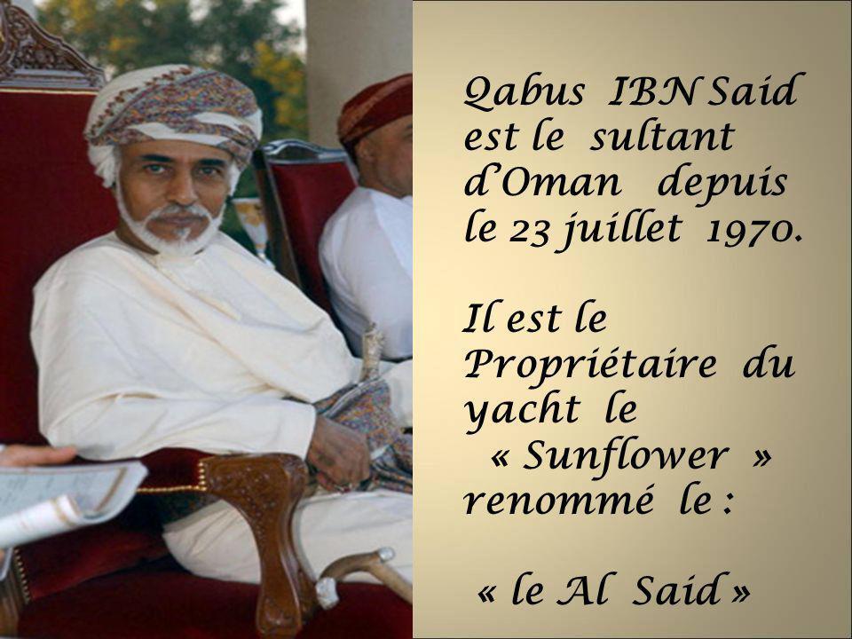 Qabus IBN Said est le sultant d'Oman depuis le 23 juillet 1970.