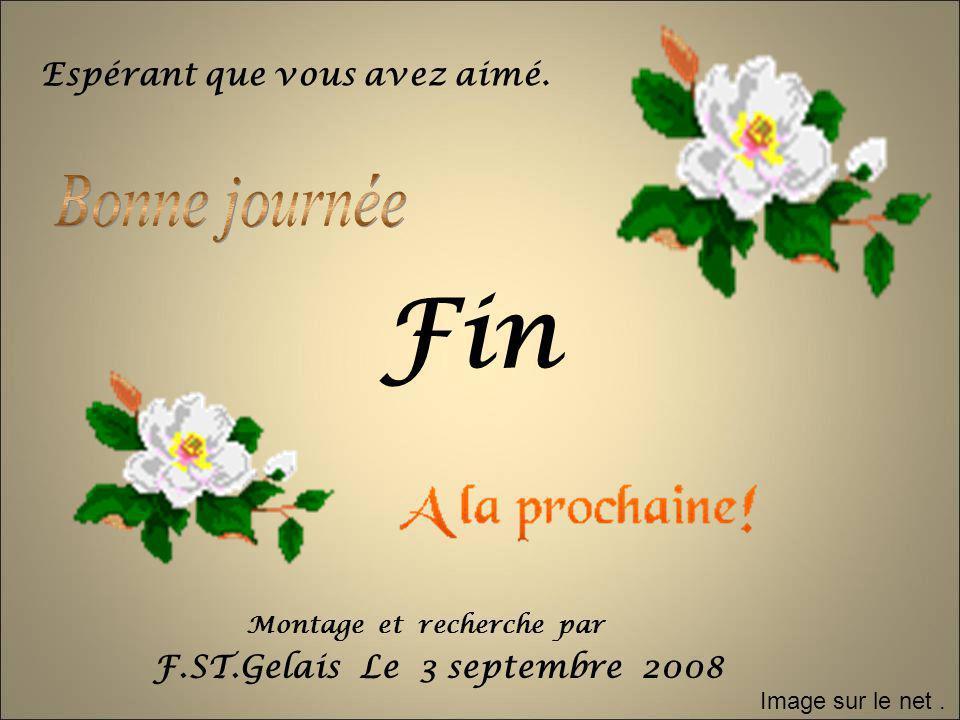 Fin Espérant que vous avez aimé. F.ST.Gelais Le 3 septembre 2008