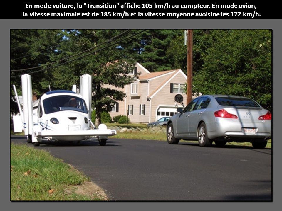 En mode voiture, la Transition affiche 105 km/h au compteur