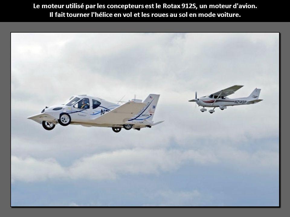 Il fait tourner l hélice en vol et les roues au sol en mode voiture.