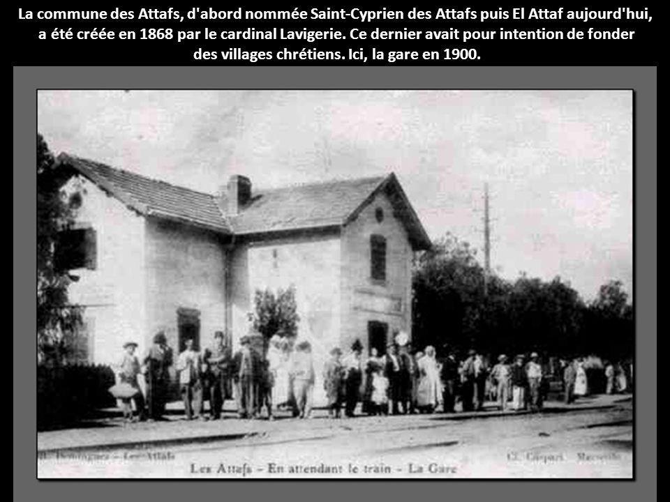 des villages chrétiens. Ici, la gare en 1900.