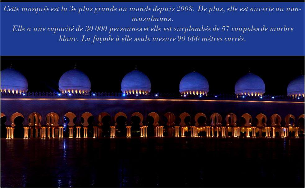 Cette mosquée est la 3e plus grande au monde depuis 2008