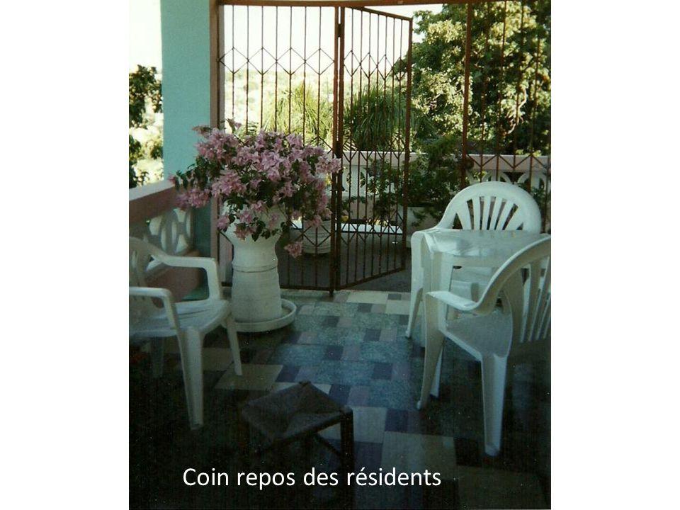 Coin repos des résidents