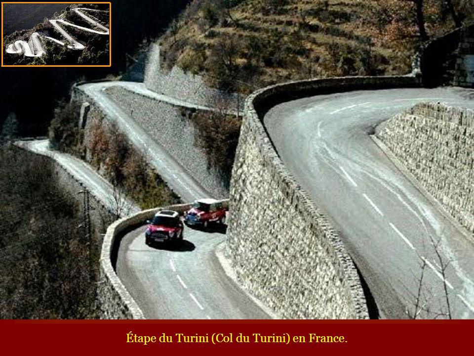 Étape du Turini (Col du Turini) en France.